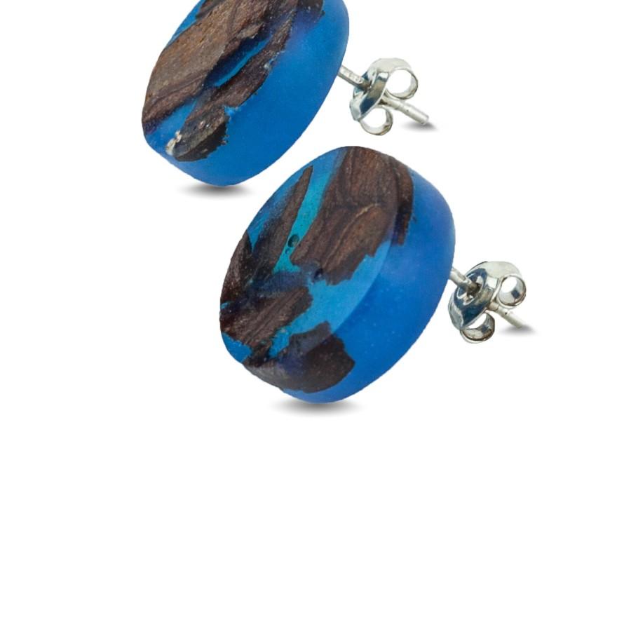 CLASSIC BLUE CIRCLE auskarai