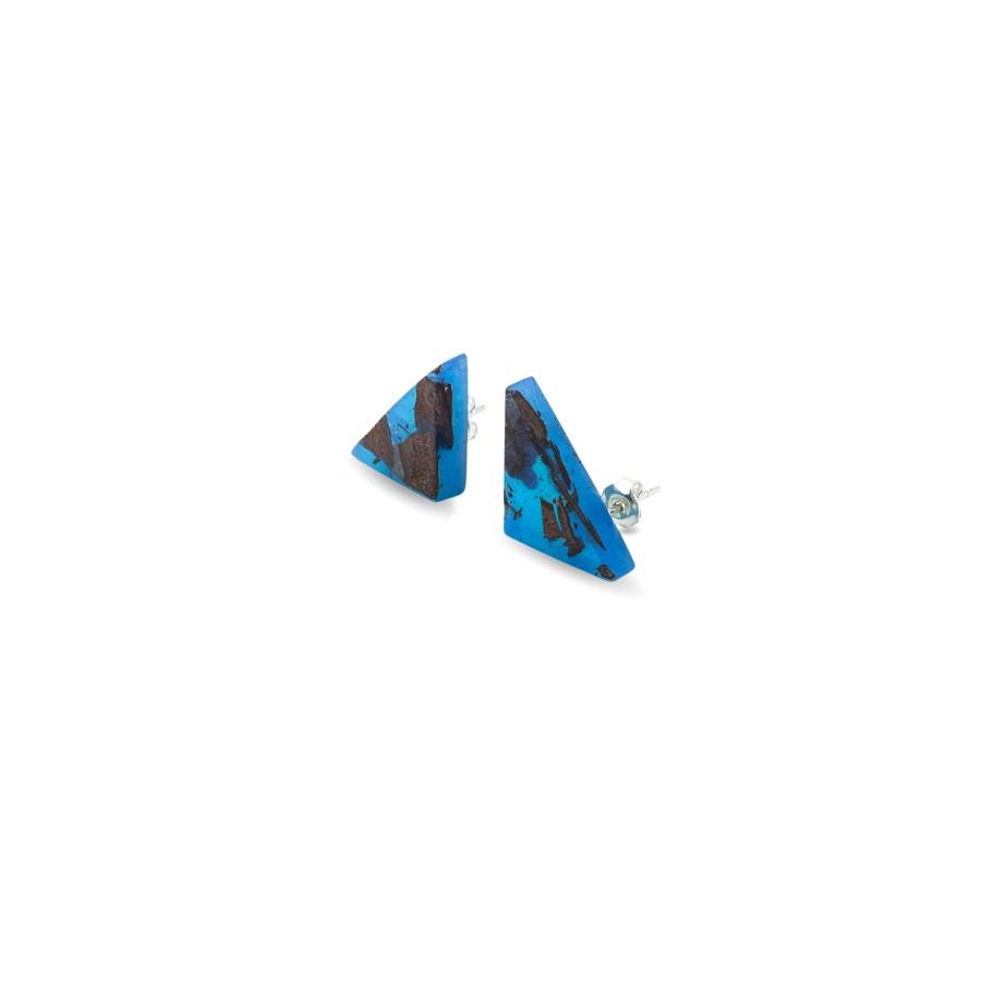 TRIANGLE CLASSIC BLUE auskarai